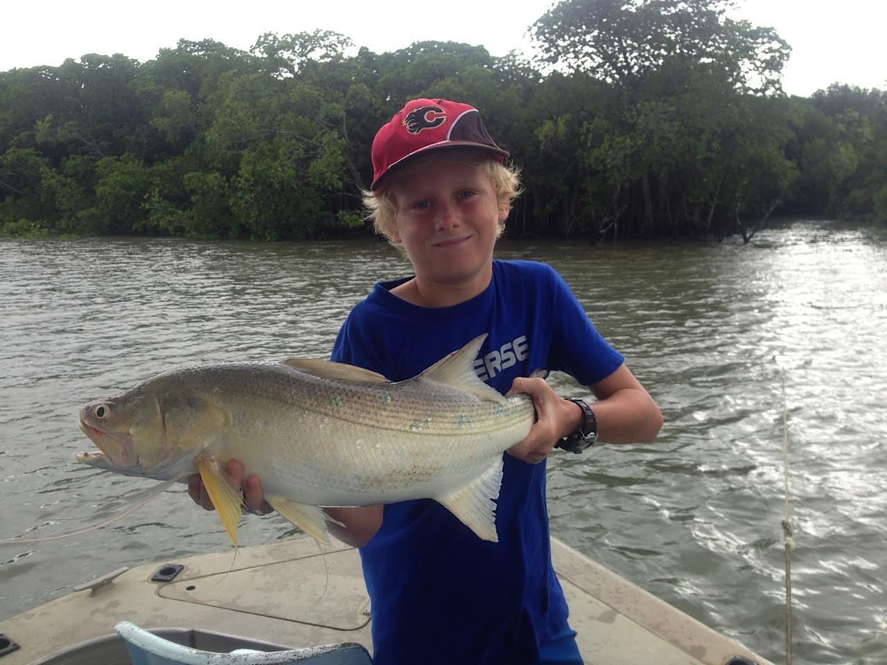 Fishing a mangrove Drain