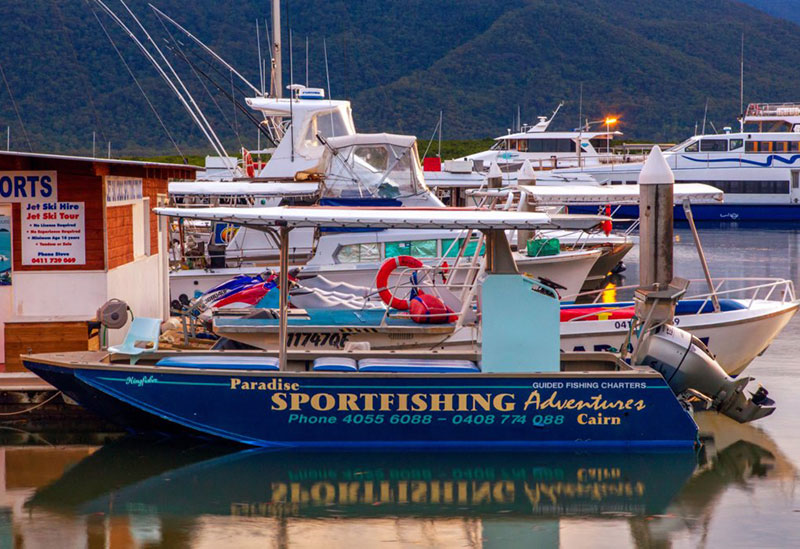 Fishing Boat Moored at Marlin Marina Cairns